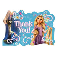 Tangled Thank You Notes (8) Princess Birthday Party Supplies Invites Stationery