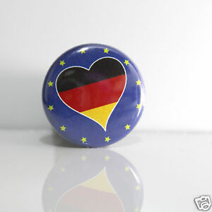 2-Badges-Europe-25mm-PIN-BACK-BUTTON-EPINGLE-Allemagne
