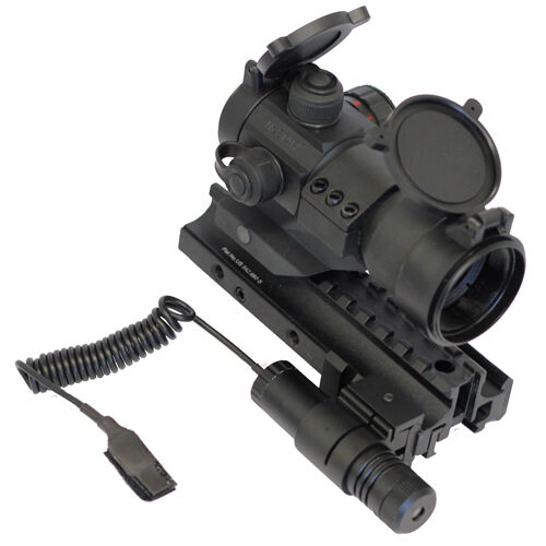 Tactical Kit w  Green Laser + Red Dot Sight + Trirail + Fits Marlin 1894 1895