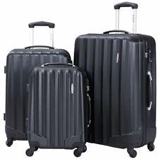 48082ba05a81 GLOBALWAY 3 Pcs Luggage Travel Set Bag ABS Trolley Suitcase Hard Shell Black