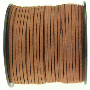 3yd 3mm Brown Suede Leather String Necklace Making DIY Jewelry Thread Cords