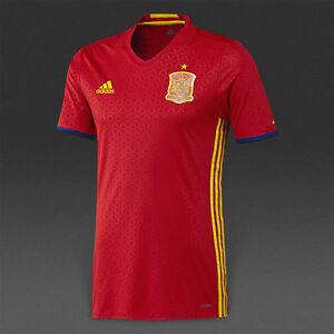 8108c9b76 ADIDAS SPAIN EURO 2016 AUTHENTIC PLAYER HOME ADIZERO JERSEY Scarlet ...