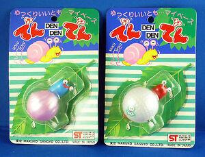 Set of 2 wind-up snails - Den Den Mushi Japan 1990's Maruko Sangyo
