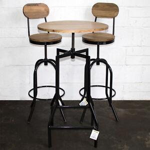 Image Is Loading Bistro Bar Table Amp Stools Furniture Set Cafe