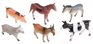 6 Figurines de jeux Animaux de la Ferme env. 15cm Set de jeux ferme Cheval