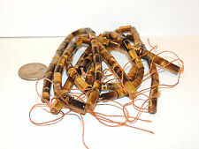 Tiger's Eye Tube 11x6mm Drilled Gemstone Beads (8794)