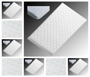 purchase cheap 31f2a 1786d Details about NURSERY BABY QUILTED BREATHABLE CRADLE/PRAM /COT/CRIB  MATTRESS SIZE 85 x 45 CM