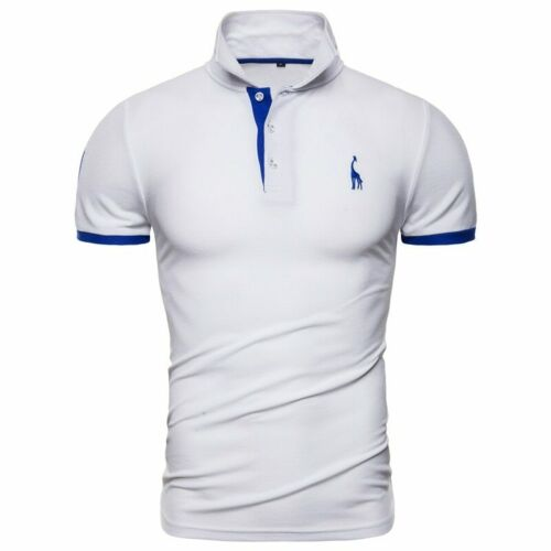 New Men Embroidery T-Shirt Top Short Sleeve Contrast Colors S M L XL XXL SALE!