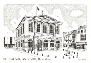 Art-Sketch-Postcard-The-Guildhall-Andover-Hampshire-by-Don-Vincent-AS1