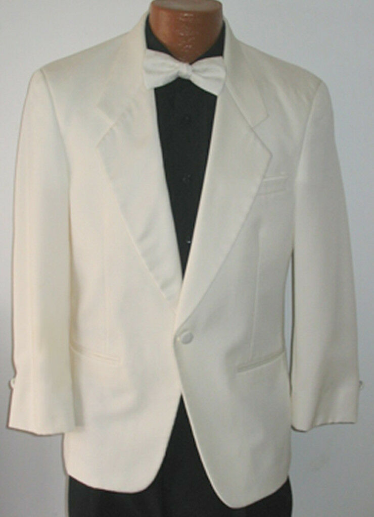 41XL Mens Christian Dior Ivory Off White Cream Tuxedo Dinner Jacket Cruise Gala