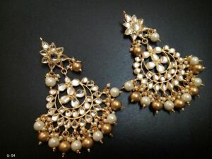Kundan-Beads-Ethnic-Dangle-Earring-Bollywood-Traditional-Jewelry-For-Women
