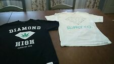 Diamond Supply Diamond High Class of 1998 t-shirt Men's Med pot leaf  Lot of 2