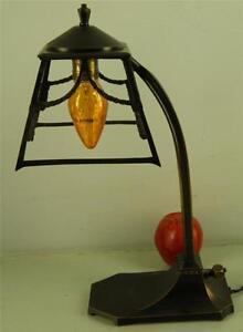Antique Arts Amp Crafts Ornate Open Work Bronze Desk Table