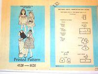 Wardrobe Sewing Pattern 4528 Fits Vintage 6 Tutti Doll