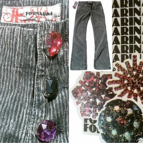 FORNARINA toy more Crystal + Diahommet Edition vip Edel Cord Kord pant Jeans 29 34