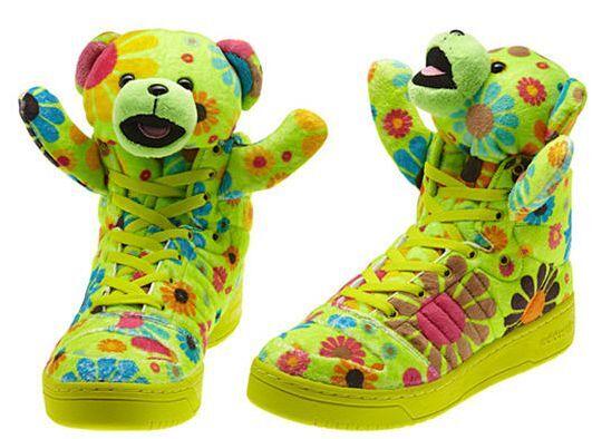 Adidas jeremy scott ist trainer trainer trainer teddy schuhe tragen - mens sz 9 plüschtier 1bbb53