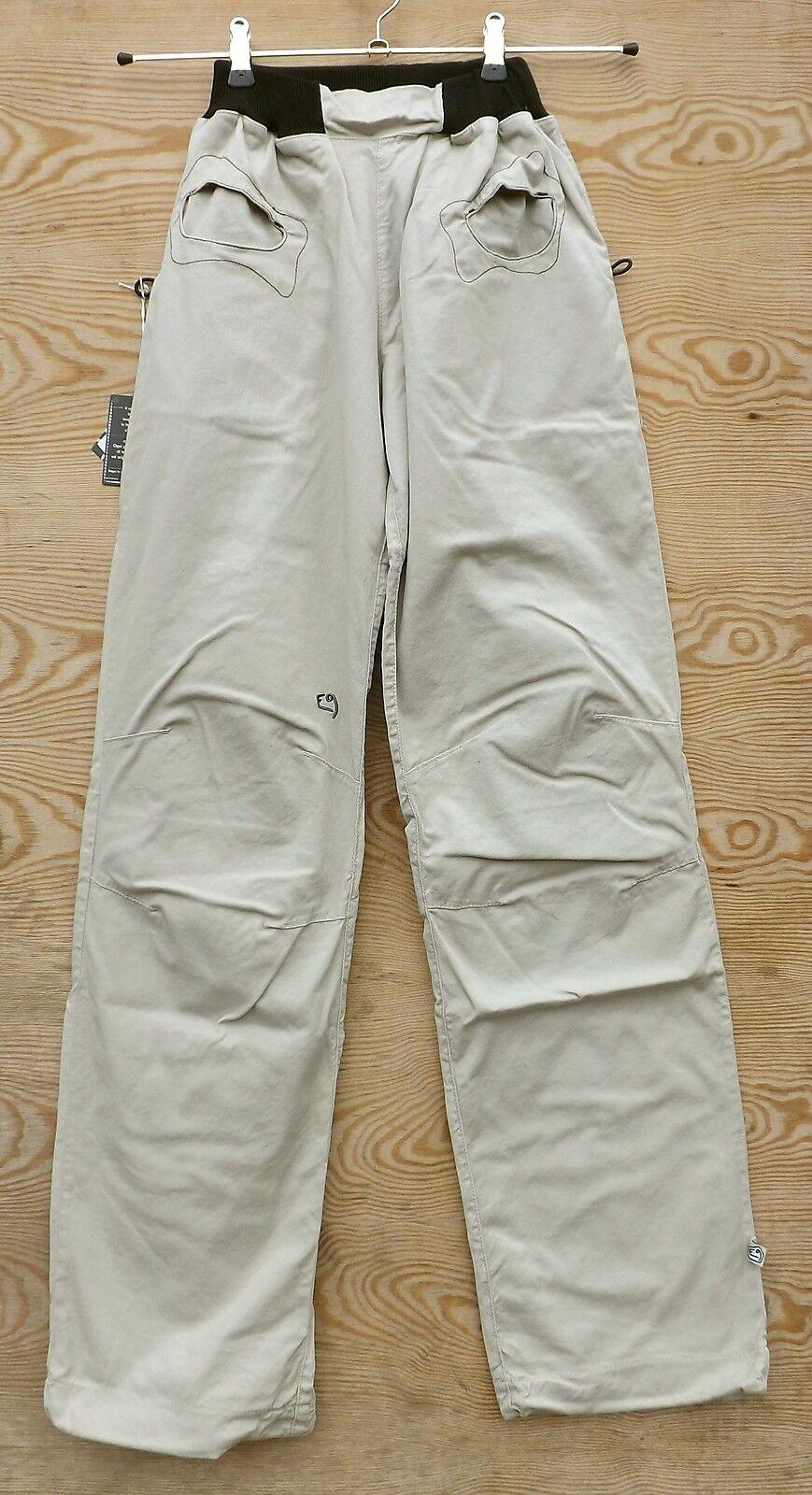 E9 Pantalones Mujer rojoondina, Talla M, Beige, Pantalones para Escalar