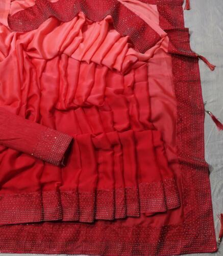 Bollywood Indian Pure Silk Saree Sari Bridal Wedding Pakistani Saree Party Wear