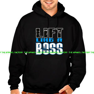 NEW LIFT LIKE A BOSS Hoodie gym workout bodybuilding prank beast muscle