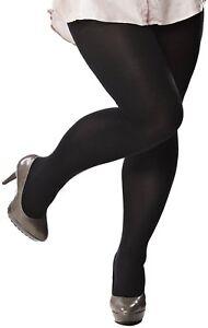 df49bab0fa8 Image is loading Plus-Size-Tightse-Hosiery-Pantyhose-Opaque-Black-6-