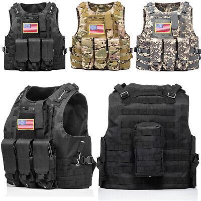 Tactical Vest Molle Military Police Gun Holder Airsoft Combat Assault Gear Vest
