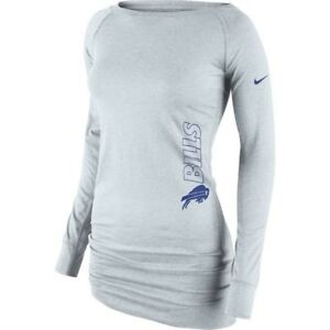 Buffalo Bills Nike Women s Stadium Epic Crew Long Sleeve Performance ... 50904cd0c1