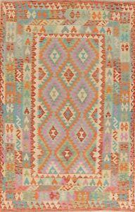 SALE-PASTEL-COLOR-5x8-Turkish-Kilim-Area-Rugs-Flat-weave-hand-made-oriental-rug