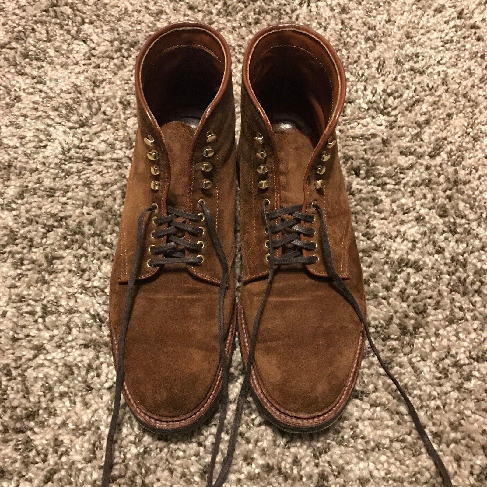 Alden Men's scarpe - All-Weather Walker Plain Toe stivali - Snuff Suede - 9.5E