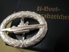 WW2 WWII WH Navy Kriegsmarine German U-Boat UBoat Officer Submarine Badge Silver