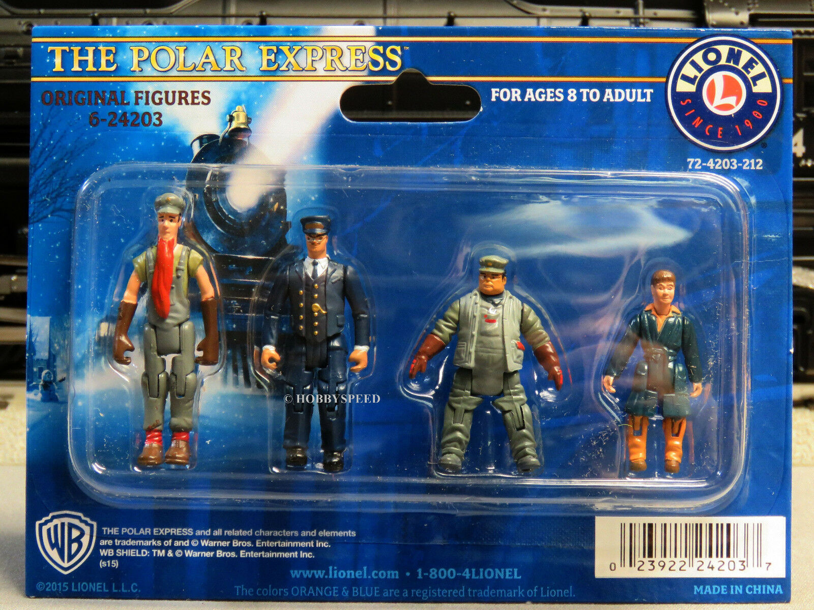 LIONEL POLAR EXPRESS FIGURES O GAUGE train people conductor 6-24203-BOXED BEARD