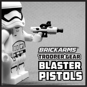 BrickArms Trooper Gear Blaster Pistols x2 Weapons for Brick Minifigures