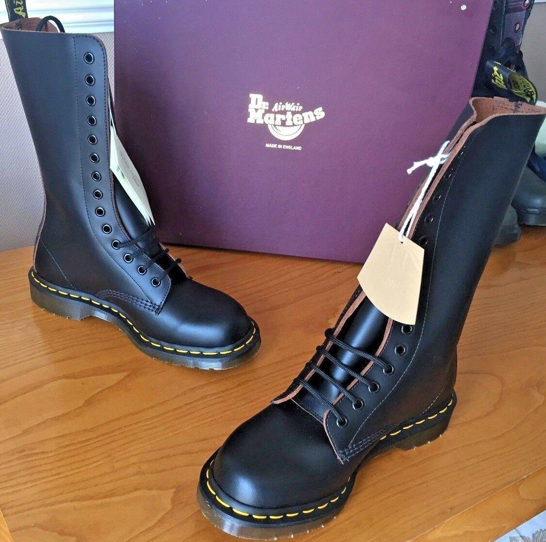 Dr Martens 1914 schwarz quilon leather Stiefel UK 6 6 6 EU 39 Made in England   ef86f7