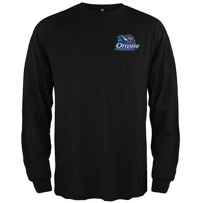 Dual Logo Adult Mens Long Sleeve Shirt Missouri River Otters