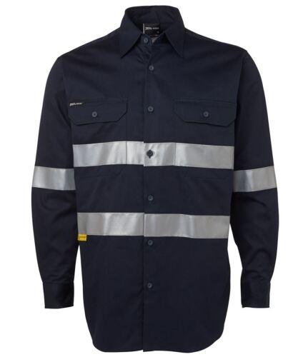 Jb/'s wear heavy weight long sleeve safety Work Shirt double pre-shrunk Drill UPF