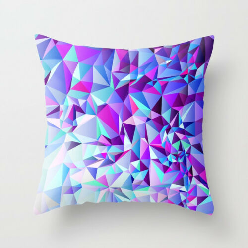 18/'/' Purple Polyester Throw Pillow Case Sofa Car Waist Cushion Cover Home Decor