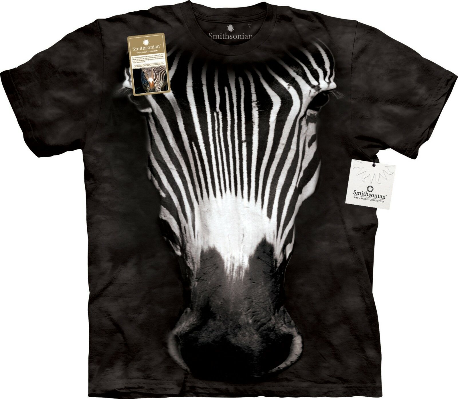 Big Face Grevy's Zebra Animal T Shirt Adult Unisex Mountain