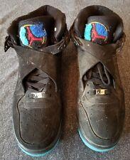 Nike Air Jordan AJF 8 Retro BLK / BRIGHT CNCRD-AQTN-DRK Sz 10 ~ 384522 041