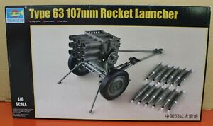Trumpeter-01920-1-6-Scale-PRC-Chinese-Type-63-107mm-Rocket-launcher-Kit-new