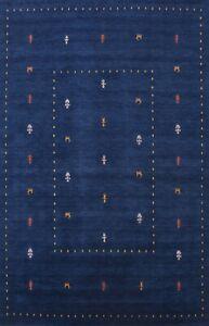Little Character/ Animals Gabbeh Oriental Area Rug Handmade Tribal Carpet 9'x12'