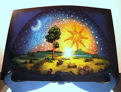 350gsm A3 size FIRMAMENT DOME ART Tree Of Life Flat Earth Poster Prints