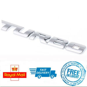 3D-Metal-TURBO-Badge-Silver-Chrome-Sticker-for-Vauxhall-Corsa-VXR-Astra-Insignia