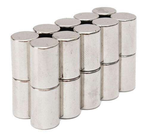 Pack of 25 5mm x 10mm Neodymium Magnets Neo Cylinder Rod Strong