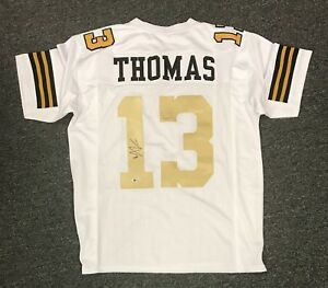 check out 2cf94 3b292 Details about Michael Thomas #13 Signed Saints Jersey Sz XL Beckett BAS  WITNESSED COA