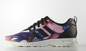 ce5177456 Image is loading ADIDAS-Originals-ZX-flux-smooth-floral-womens-running-