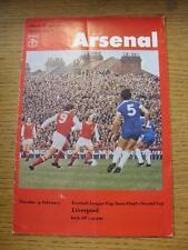 14/02/1978 Football League Cup Semi-Final: Arsenal v Liverpool  (folded, creased