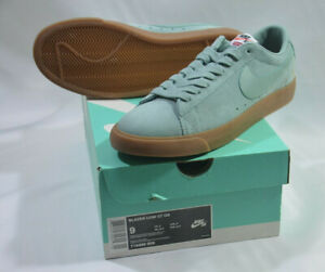 best website 23b71 14340 Details about Nike SB Supreme Blazer Low GT QS Cannon Blue Gum Size US 9  EUR 42.5 OLD STOCK