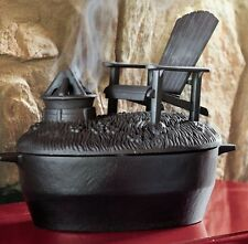 Wood Stove Steamer Black Cast Iron Add Moisture to Air Adirondack Chair Fire Pit