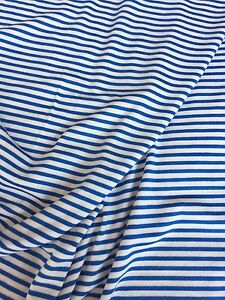 Image Is Loading White And Blue Mini Stripe Pinstripe Jersey Super