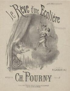 """""""le RÊve D'une Ecoliere"""" Couverture De Partition Originale Entoilée Barbizet Srutgucw-07175421-942598421"""