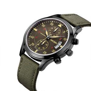 MEGIR-Mens-Watch-Sport-Military-Waterproof-Nylon-Chronograph-Quartz-Wrist-Watch